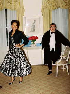 Vogue.com brings you intimate photos of English actress Gugu Mbatha-Raw and Lanvin creative director Alber Elbaz prepping for the party of the year.