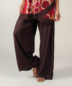 Another great find on #zulily! Chocolate High-Waist Palazzo Pants #zulilyfinds