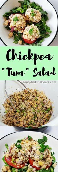 "Chickpea ""Tuna"" Salad • Beauty and the Beets"