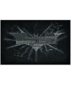 The Dark Knight Rises Typography Print