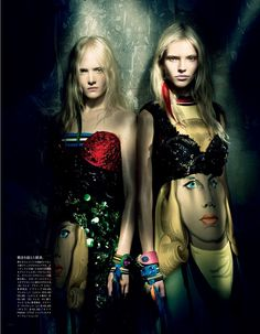 awesome Vogue Japão Março 2014 | Sasha Luss, Maja Salamon e Ola Rudnicka por Paolo Roversi  [Editorial]