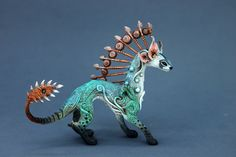Animaux furet Dragon Figurine Fantasy Skulpture par DemiurgusDreams