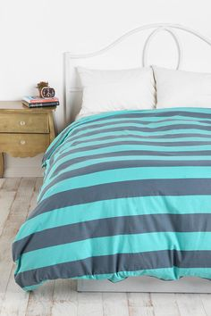 Coney Island Stripe Duvet Cover