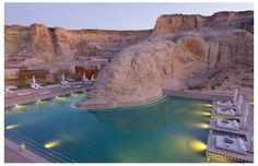 Amangiri Resort, Spa and Villas, near Lake Powell in Southern Utah Amangiri Hotel, Amangiri Resort Utah, Beautiful Hotels, Beautiful Places To Visit, Beautiful World, Cool Swimming Pools, Best Swimming, Lake Powell, Places Around The World