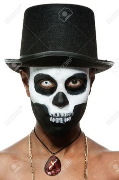 female voodoo priestess with face paint Stock Photo MoreVoodoo Skull Face Paint