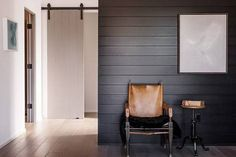 Make a mix of vertical and horizontal patterns stand out by using both dark and light paint Wainscoting Kitchen, Black Wainscoting, Painted Wainscoting, Wainscoting Hallway, Shiplap Bathroom, Wainscoting Height, Painted Tiles, Wainscoting Nursery, Wainscoting Panels