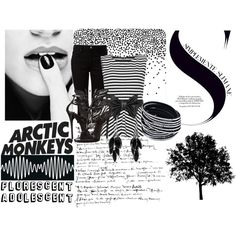 Arctic Monkeys by daughter-of-apollo-1 on Polyvore featuring WearAll, T By Alexander Wang, Giuseppe Zanotti, Alexa Starr, blackandwhite and arcticmonkeys