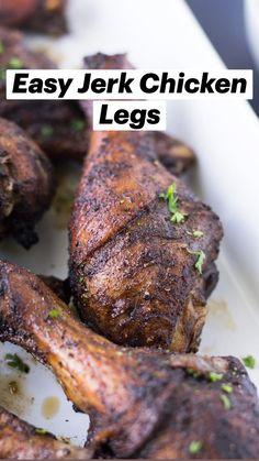 Jerk Chicken, Chicken Legs, Tandoori Chicken, Breakfast Recipes, Dinner Recipes, Gluten Free Chicken, Cook Lessons, Entrees, Main Dishes