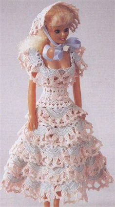 Barbie's Sunday afternoon dress with diagram