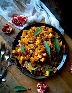 Warm Moroccan Roasted Vegetable Salad (Vegan)