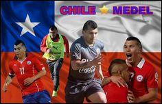 Gary Medel con Chile  collage hecho por mi