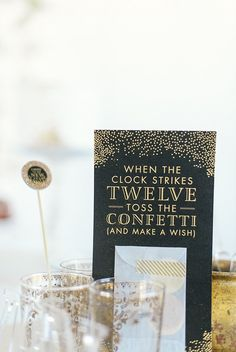 New Year's Eve Party ideas. So sweet!