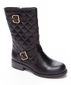 Look at this Carrie Black Quilted Angela Boot on #zulily today!