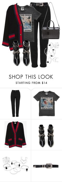 """Untitled #430"" by tashcivokjnap ❤ liked on Polyvore featuring Topshop, Gucci and Yves Saint Laurent"