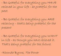 Love Rhonda Byrne...