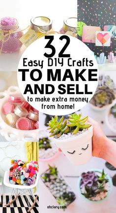 Hot Craft Ideas to Sell - Crafts To Make And Sell From Home 32 Handmade Craft Ideas To Sell. These awesome DIY projects to make and sell are awesome to make money from home. Easy DIY craft projects and crafts for kids and children. Just click through t Diy Craft Projects, Diy Projects To Make And Sell, Easy Crafts To Make, Diy And Crafts Sewing, Sell Diy, Diy Home Crafts, Handmade Crafts, Handmade Ideas, Diy Ideas
