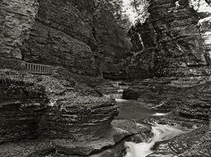 While #watkinsglen  has many #waterfalls it also has high #cliffs that surround you.