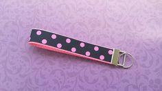 Black and pink polka dots