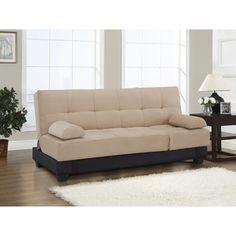 Have to have it. Serta Harvard Khaki Convertible Sofa - $399.99 @hayneedle.com