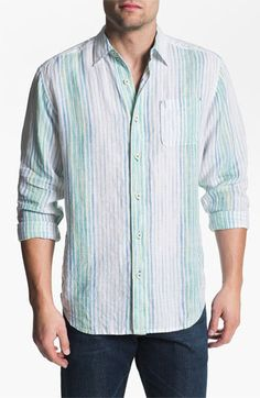 Tommy Bahama 'Coconut Lanes' Linen Sport Shirt Nordstrom $128