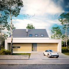 Modny II - dom parterowy z poddaszem użytkowym i garażem | doomo