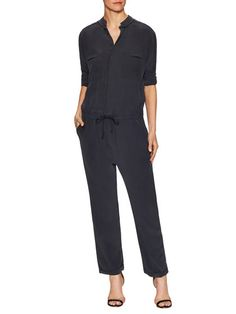 Cruise Silk Jumpsuit by Superfine at Gilt