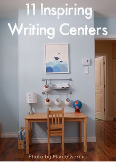 Ever thought about creating a writing center? Here is some inspiration...