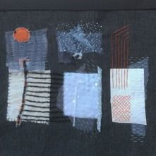Broderi och textilt collage   Birgitta Boholm