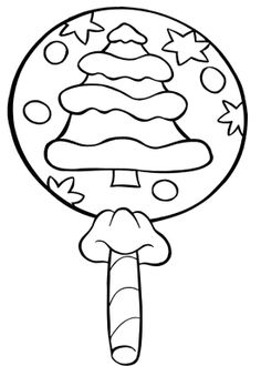 christmas lollipop candy coloring page - Lollipop Coloring Pages Printable