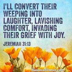 so encouraging, Jeremiah 31:13
