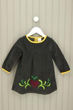 Hannah Anderson Size 18-24M Heart Corduroy Dress