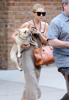 Ashley Olsen-Famous French Bulldogs - Celebrity French Bulldog Owners