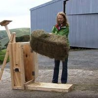 how to build a miniature hay baler