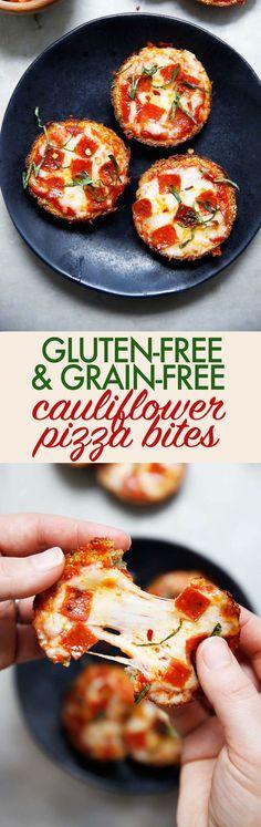 Healthy Gluten-Free & Grain-Free Cauliflower Pizza Bites