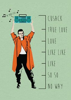 Cusack Scale of Love Greeting Card by Kelly Larson (Threadless) | Open Me