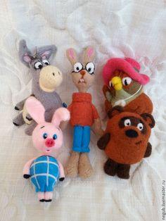 """Купить Пальчиковый театр """" Винни-Пух"""". - комбинированный, пальчиковые куклы, пальчиковые игрушки"""