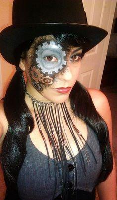 Steampunk makeup http://www.makeupbee.com/look.php?look_id=61627    halloween  Instagram - reinphall follow me