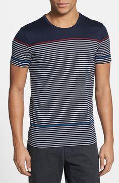 BOSS HUGO BOSS 'Abruzzo' Stripe Crewneck T-Shirt available at #Nordstrom