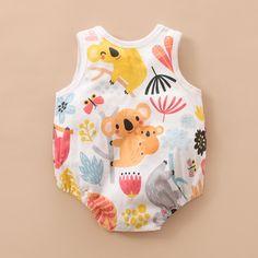 Newborn Baby Sleeveless Koala Print One Piece Romper baby girls, baby boy, baby girl fashion, baby b Baby Girl Fashion, Kids Fashion, Vintage Baby Clothes, Baby Girl Romper, Baby Outfits Newborn, Baby Prints, Baby & Toddler Clothing, Baby Wearing, Kids Outfits