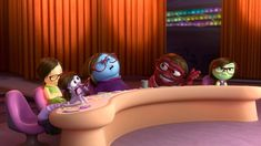 Inside Out Trailer 2 UK - Official Disney Pixar | HD – Girl from the Midwest moves to San Francisco with her family when her father gets a new job. Her emotions – Joy (Amy Poehler), Fear (Bill Hader), Anger (Lewis Black), Disgust (Mindy Kaling) and Sadness (Phyllis Smith) – live at Headquarters, a control room inside Riley's mind. They guide her through everyday life sort of like the angels and devils that occasionally sit our on shoulders.