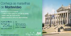Montevideo a partir de R$ 2540 ou 101.600 pontos TudoAzul #montevideu #uruguai #tudoazul #viagem