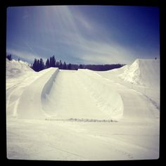 Shawn White's personal half pipe in Aspen. #xgames #goldmedal #buttermilk