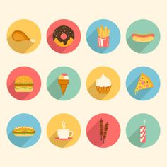 Find Fast Food Colorful Flat Design Icons stock images in HD and millions of other royalty-free stock photos, illustrations and vectors in the Shutterstock collection. Icon Design, Flat Design Icons, Donut Images, Food Icons, Menu Design, Ui Design, Flat Color, Icon Set, Royalty Free Photos