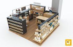 Candle kiosk for sale Kiosk Store, Mall Kiosk, Stand Design, Booth Design, Honey Shop, Pharmacy Design, Kiosk Design, Candle Shop, Diy Tv