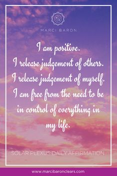 Our Solar Plexus chakra represents our ability to be confident and in-control of our lives. It is our energetic center of self-esteem, self-worth, self-confidence, personal power and authentic control. Here are 20 affirmations for you to raise the vibration of your Solar Plexus Chakra: