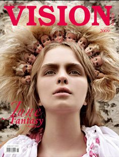 Another different headband by Piers Atkinson that featured in Vision Magazine. He has used dolls heads to create a lions mane look.