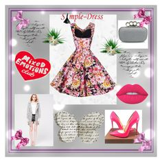 """SIMPLEDRESS #29"" by nizaba-haskic ❤ liked on Polyvore featuring Christian Louboutin, Lime Crime and Tuesday Bassen"
