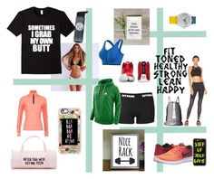 """""""Fitspo"""" by bookworm528 on Polyvore featuring Beyond Yoga, NIKE, Casetify, Superdry, ban.do and Topshop"""