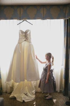 Hanging Priscilla of Boston Wedding Dress | Jeff and Jane Greenough, Photographers | Theknot.com