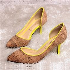 A twist on the neutral pump. Add a touch of on trend neon to in season cork pumps. $45